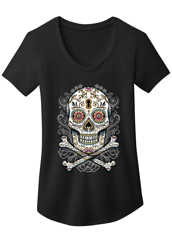 "NEW ""BLESS THE DEAD' LADIES SCOOP NECK TEE - TatDaddy Clothing Co. tattoo clothing"