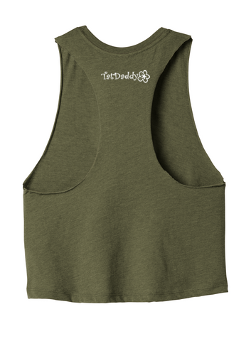 "NEW ""Forget Me Not"" Ladies Racerback Cropped Tank - TatDaddy Clothing Co."