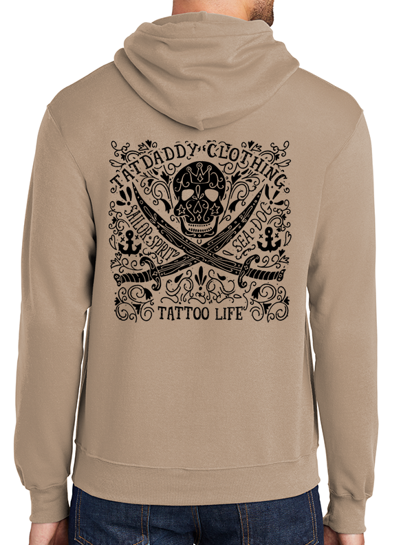"New ""Tattoo Life"" Sand Hoodie - TatDaddy Clothing Co. tattoo clothing"