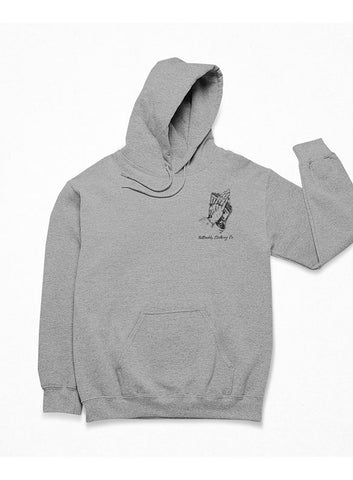"TATDADDY ""NO FOO"" GREY HOODIE - TatDaddy Clothing Co. tattoo clothing"