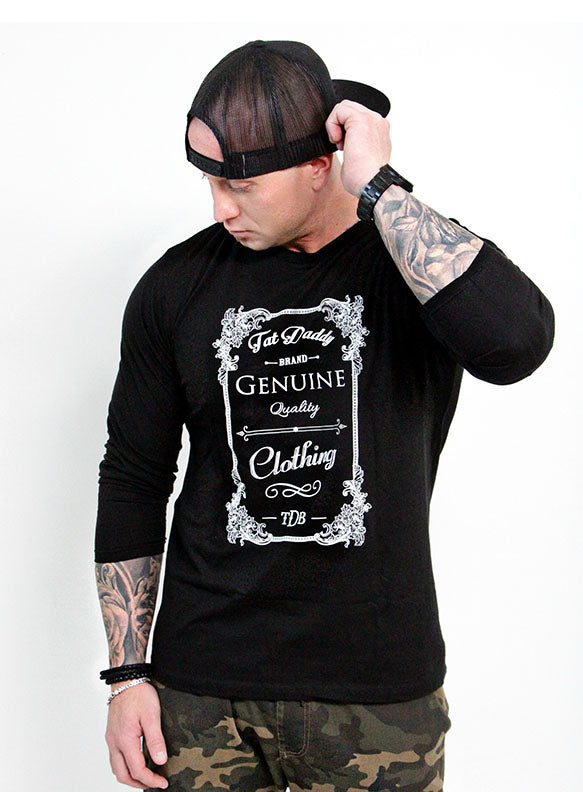 "MEN'S '"" GENUINE QUALITY""  LONG SLEEVE TEE - TatDaddy Clothing Co."