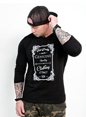 "MEN'S '"" GENUINE QUALITY""  LONG SLEEVE TEE - TatDaddy Clothing Co. tattoo clothing"