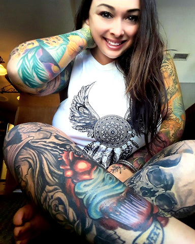 "NEW ""SACRED FLIGHT"" LADIES TANK - TatDaddy Clothing Co. tattoo clothing"