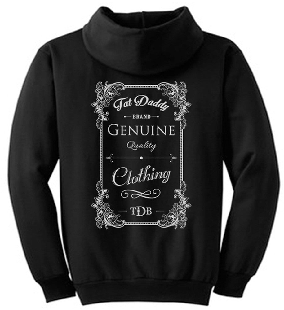 """Tat Daddy Genuine"" Hoodie - Tat Daddy Brand Apparel"
