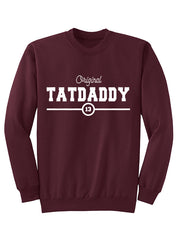 "Unisex ""Original TatDaddy"" Crew Neck Sweatshirt - TatDaddy Clothing Co. tattoo clothing"