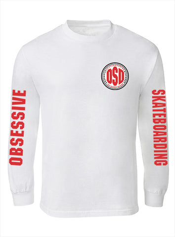 "OSD ""Obesessive Skateboarding Disorder"" Long Sleeve 100% Cotton Tee - TatDaddy Clothing Co. tattoo clothing"