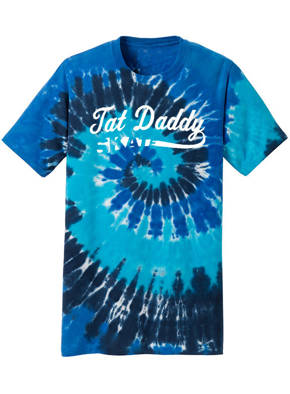 "100% Cotton Tie Dye ""Tat Daddy Skate"" Tee - TatDaddy Clothing Co. tattoo clothing"