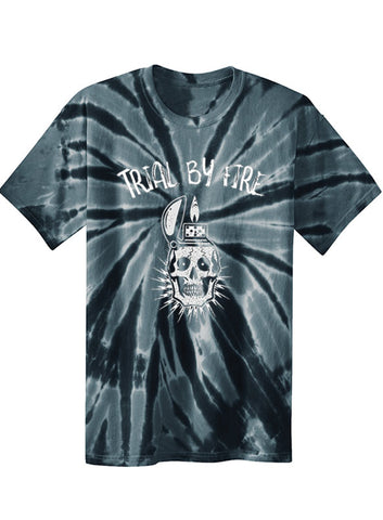 "NEW ""TRIAL BY FIRE"" BLACK TYE DIE TEE - TatDaddy Clothing Co. tattoo clothing"