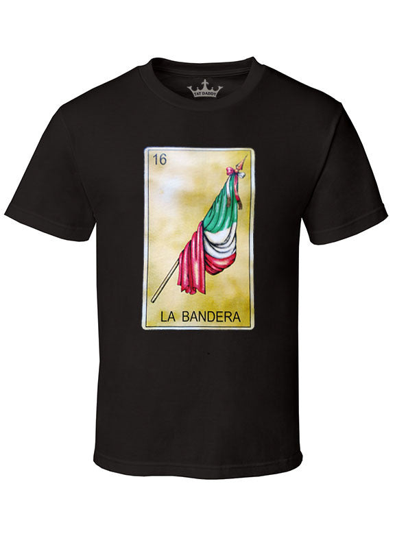 "Men's Soft Ringspun Cotton ""La Bandera"" Tee - TatDaddy Clothing Co. tattoo clothing"