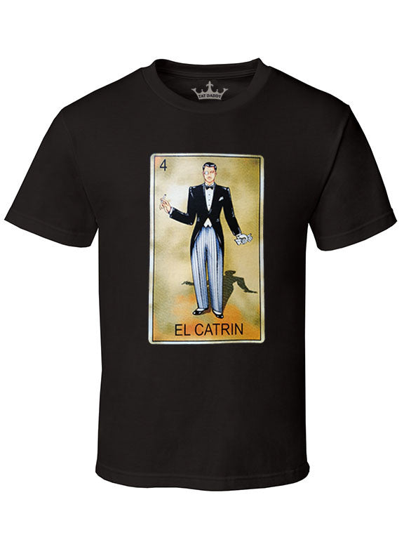 "Men's Soft Ringspun Cotton ""El Catrin"" Tee - TatDaddy Clothing Co. tattoo clothing"