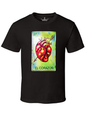 "MEN'S SOFT RINGSPUN COTTON ""EL CORAZON"" TEE - TatDaddy Clothing Co. tattoo clothing"