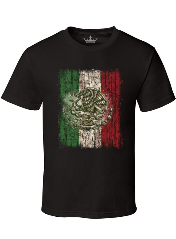 "Men's Soft Ringspun Cotton ""Mexican Pride"" Tee - TatDaddy Clothing Co. tattoo clothing"