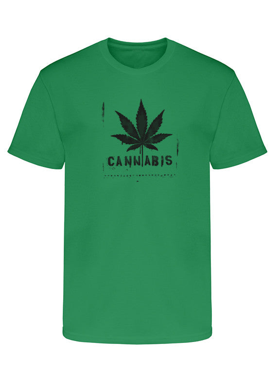 "Men's Soft Ringspun Cotton ""Cannabis"" Tee - TatDaddy Clothing Co."