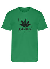 "Men's Soft Ringspun Cotton ""Cannabis"" Tee - TatDaddy Clothing Co. tattoo clothing"