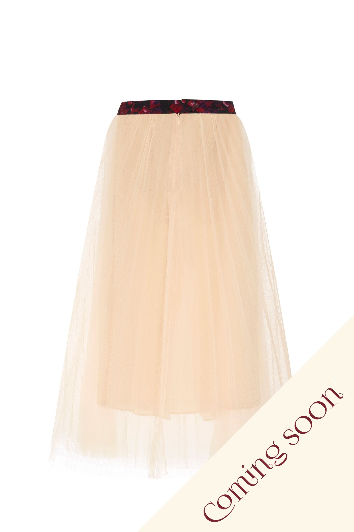 Momo peach fuzz pleated skirt