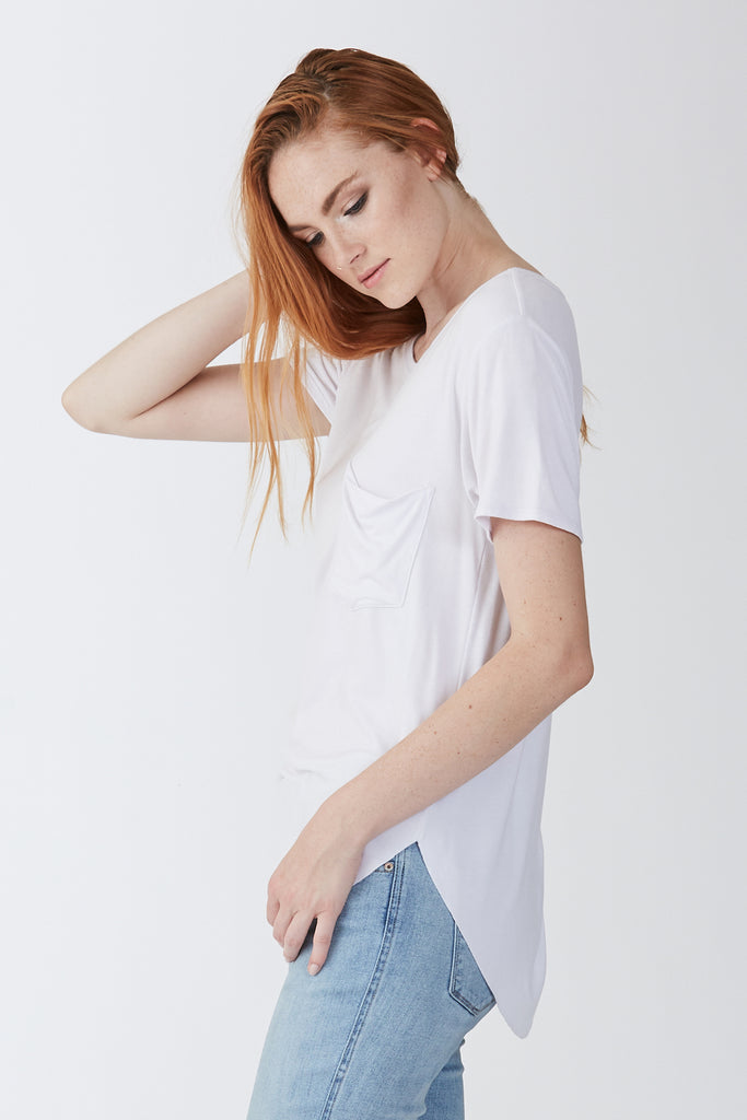 SAM CREW NECK TEE WHITE