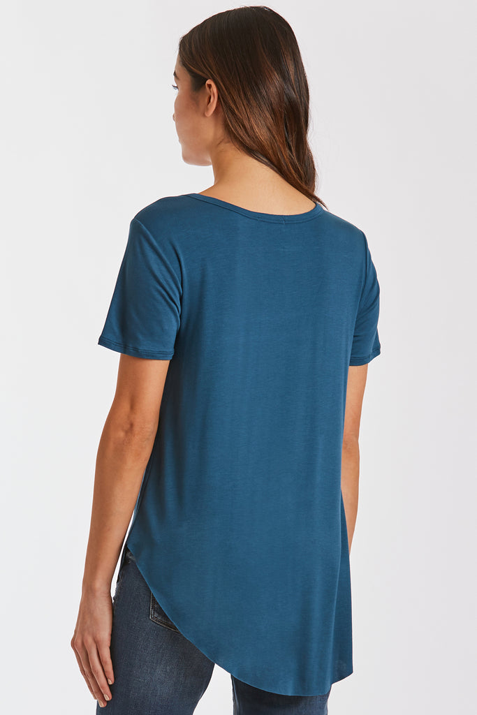 SAM CREW NECK TEE DARK TEAL