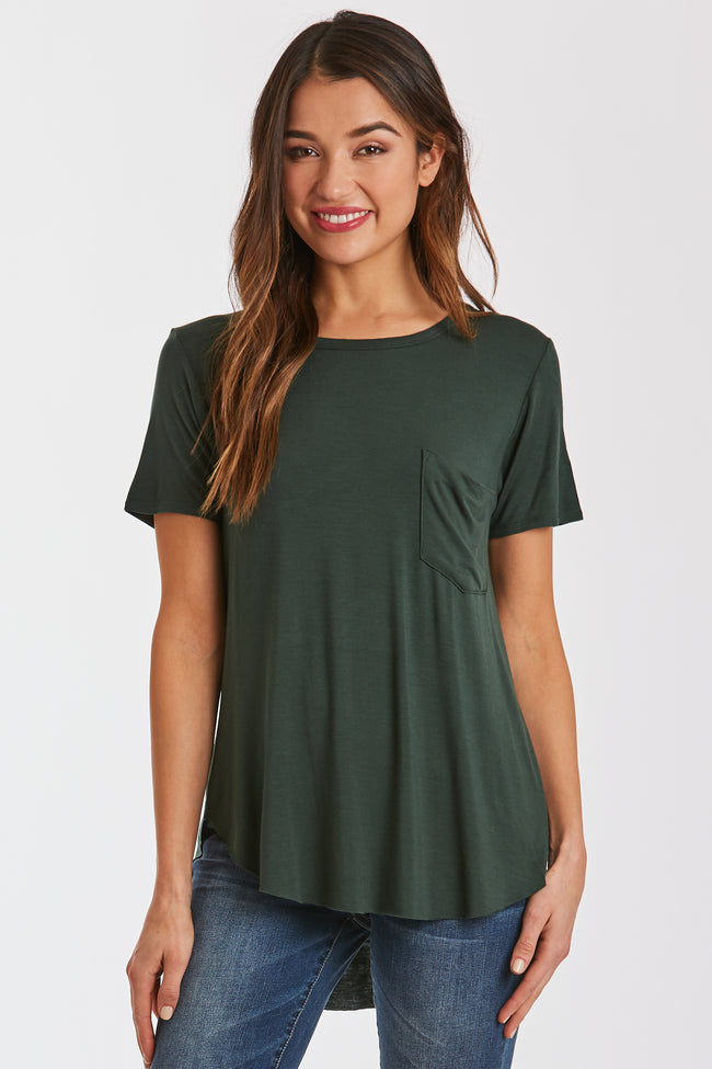 SAM CREW NECK TEE HUNTER GREEN
