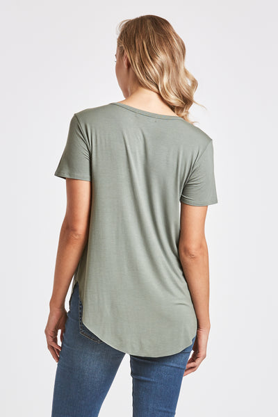 SAM CREW NECK TEE FERN
