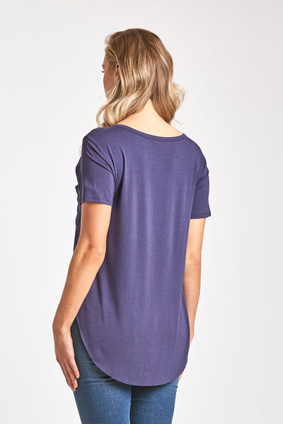 SAM CREW NECK TEE NAVY