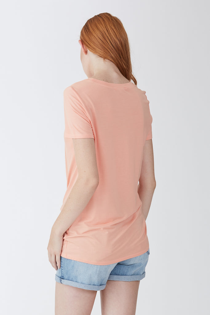 JULIA FRONT KNOT TEE MELON