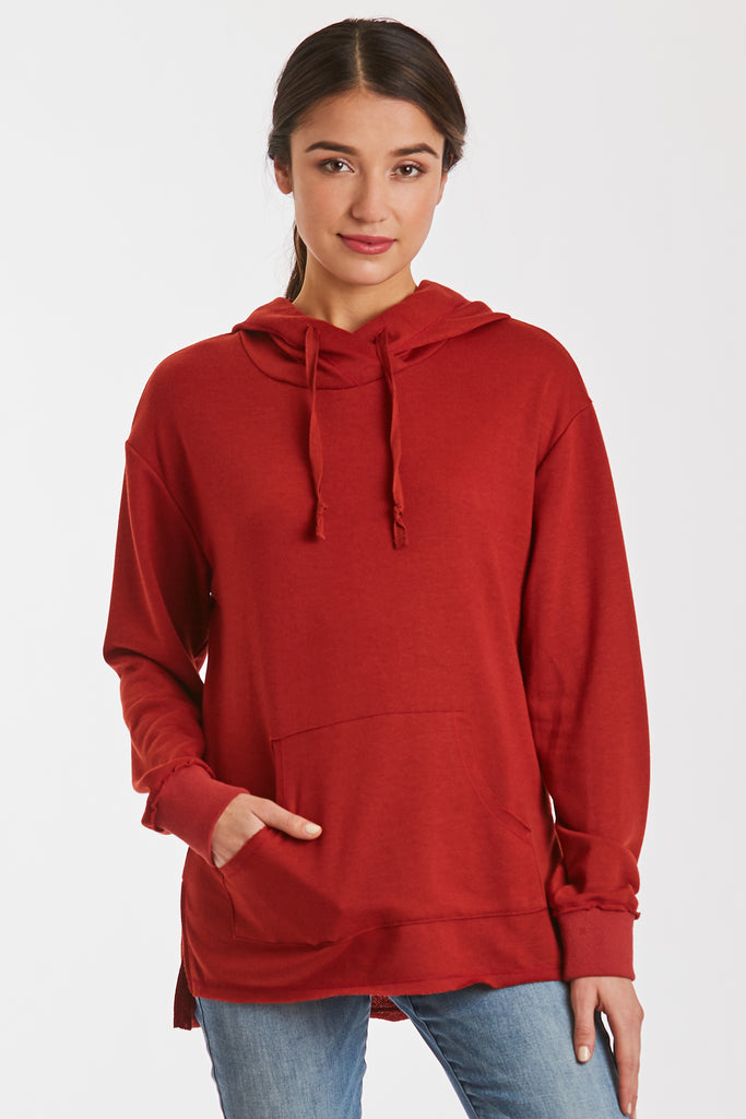 MACKENZIE FRENCH TERRY SWEATSHIRT CHILI