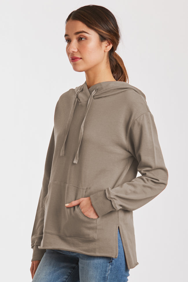 MACKENZIE FRENCH TERRY SWEATSHIRT HEATHER CHARCOAL
