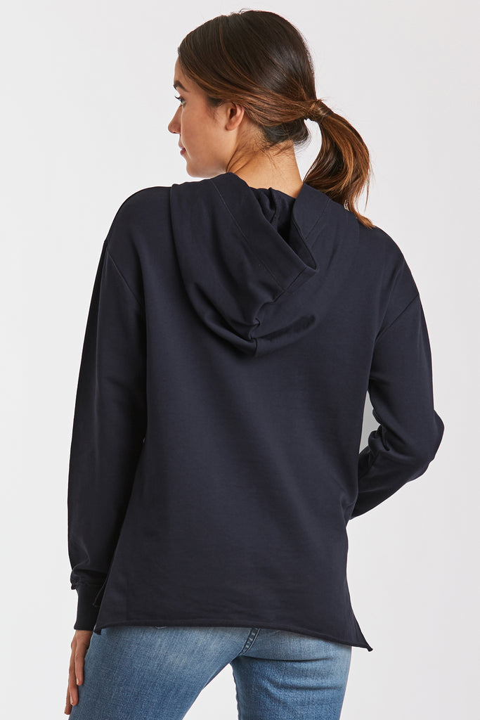 MACKENZIE FRENCH TERRY SWEATSHIRT NAVY