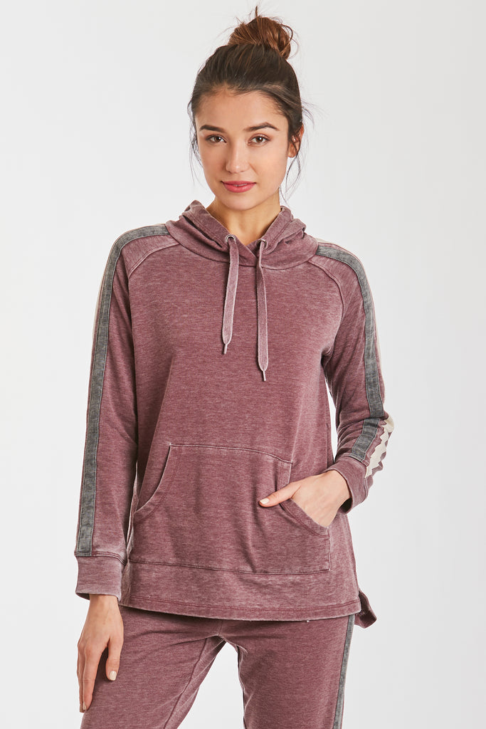 RODRIGO BURNOUT SWEATSHIRT BORDEAUX