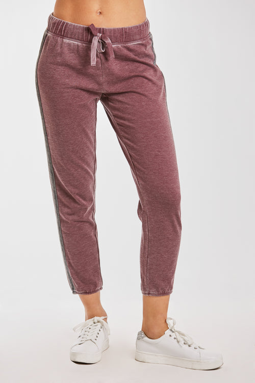 LANA BURNOUT ATHLETIC PANT BORDEAUX