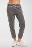LANA BURNOUT ATHLETIC PANT BLACK
