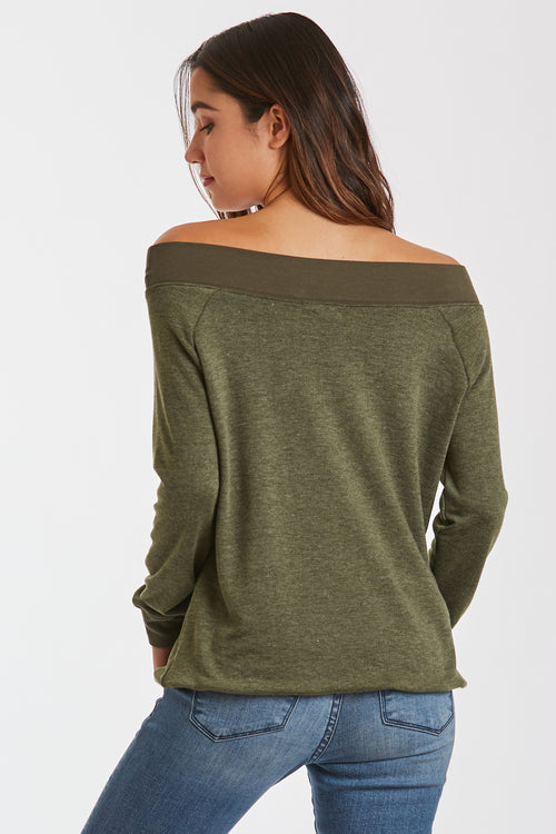 MARY OFF SHOULDER OLIVE