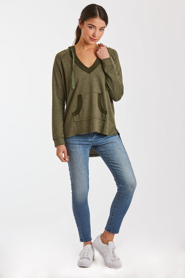 BENSON SWEATSHIRT HEATHER OLIVE
