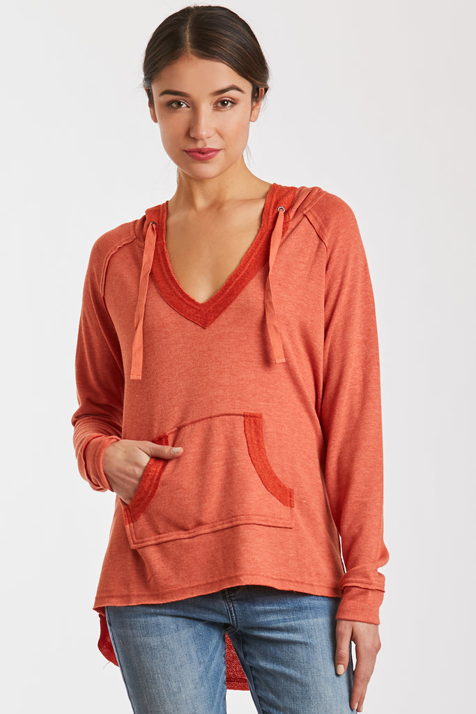 BENSON SWEATSHIRT HEATHER RUST
