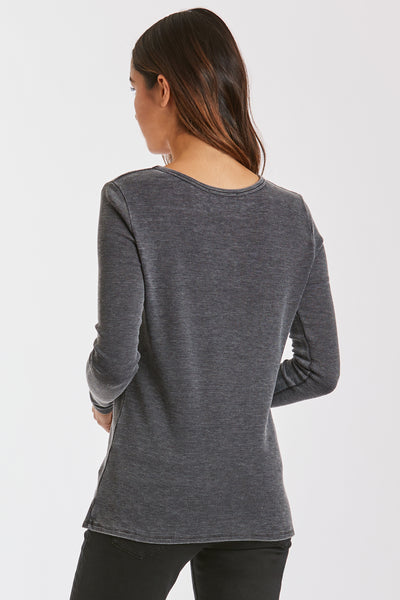 RYAN CUT OUT BURNOUT THERMAL BLACK