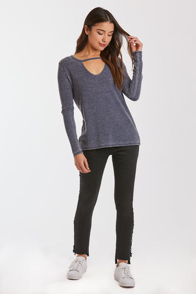 RYAN CUT OUT BURNOUT THERMAL NAVY