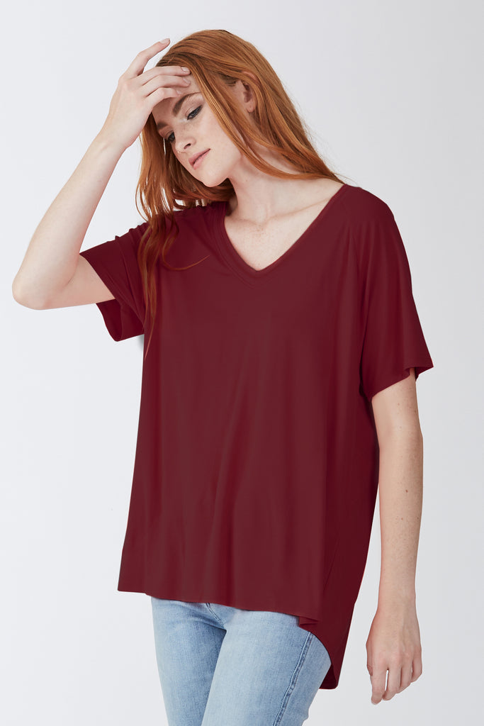 TAYLOR OVERSIZED SHIRT BORDEAUX