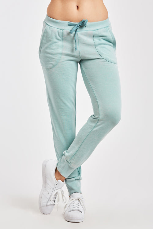 ANGELA BURNOUT JOGGER W/ PKT SOFT JADE