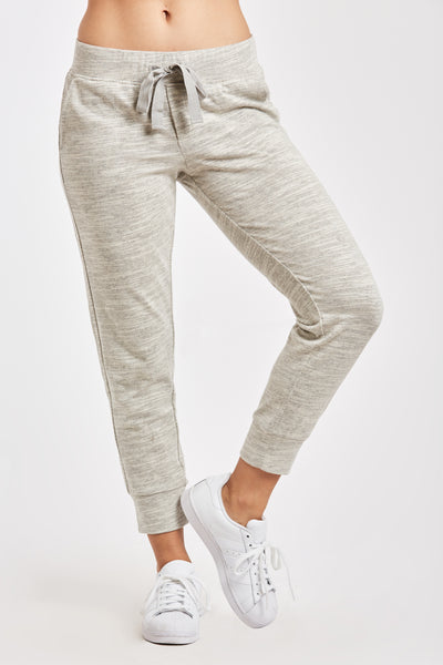 JULIETTE JOGGER PANT HEATHER OATMEAL