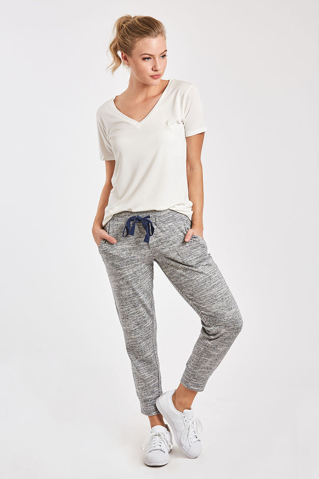 JULIETTE JOGGER PANT HEATHER NAVY