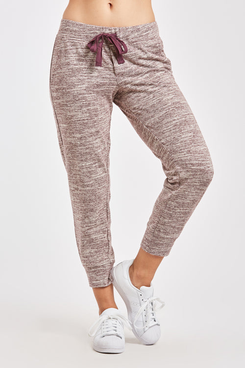 JULIETTE JOGGER PANT HEATHER RED