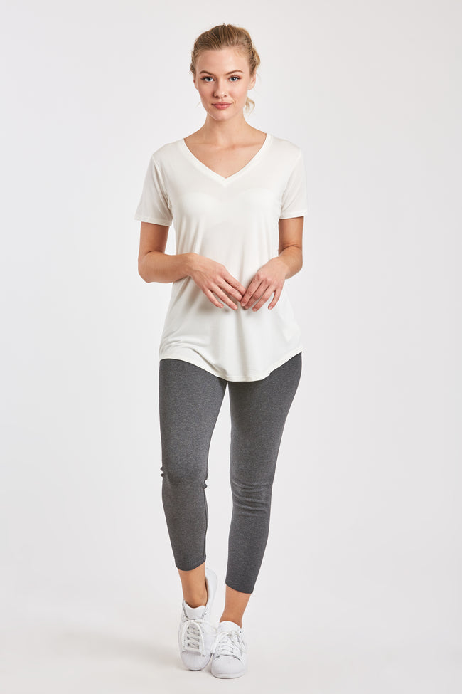 CROPPED GINA LEGGING HEATHER CHARCOAL