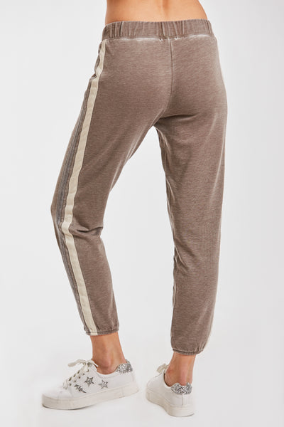 LANA BURNOUT ATHLETIC PANT ESPRESSO