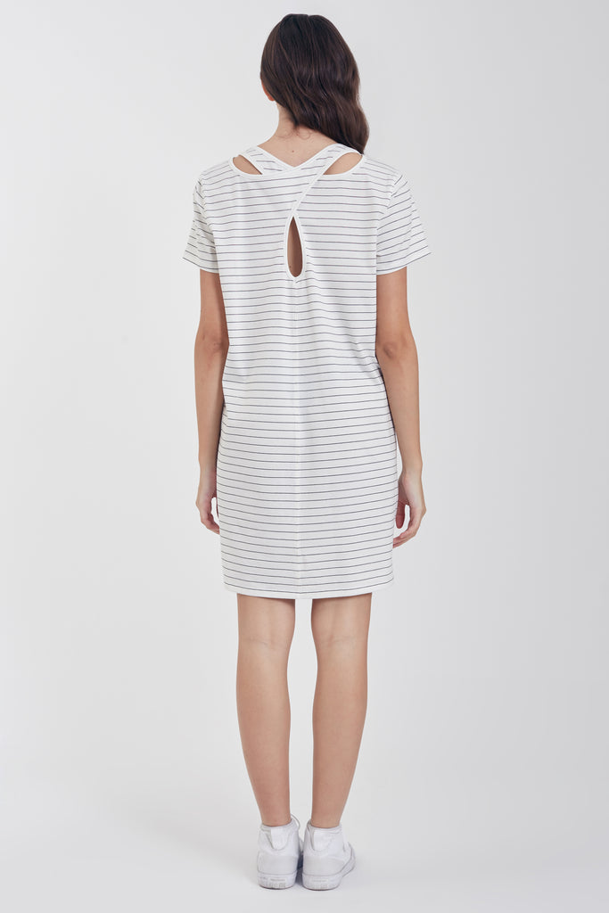COLE DRESS WHITE / BLACK