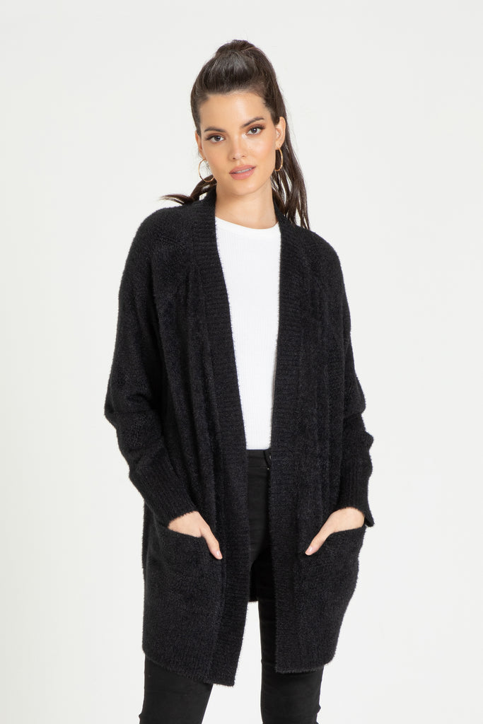 JADE RELAXED CARDIGAN BLACK