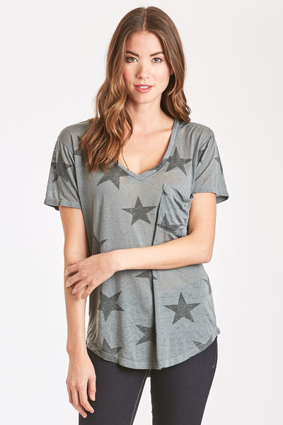 PHOENIX BURNOUT STAR PRINTED VNECK
