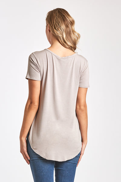 SAM CREW NECK TEE LIGHT MOCHA