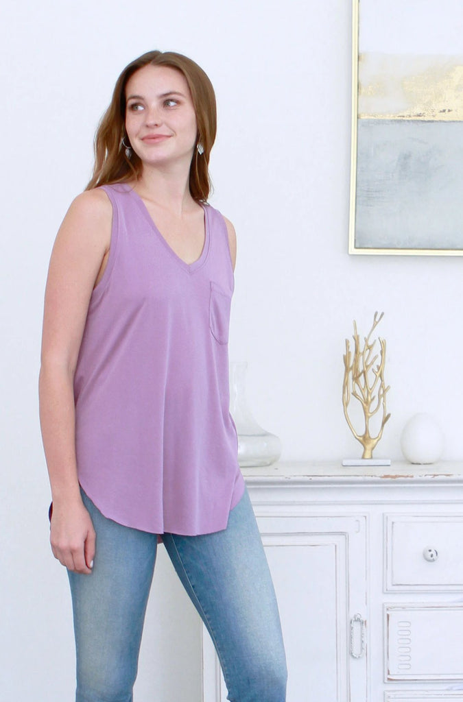 ESTHER TANK ASH PLUM