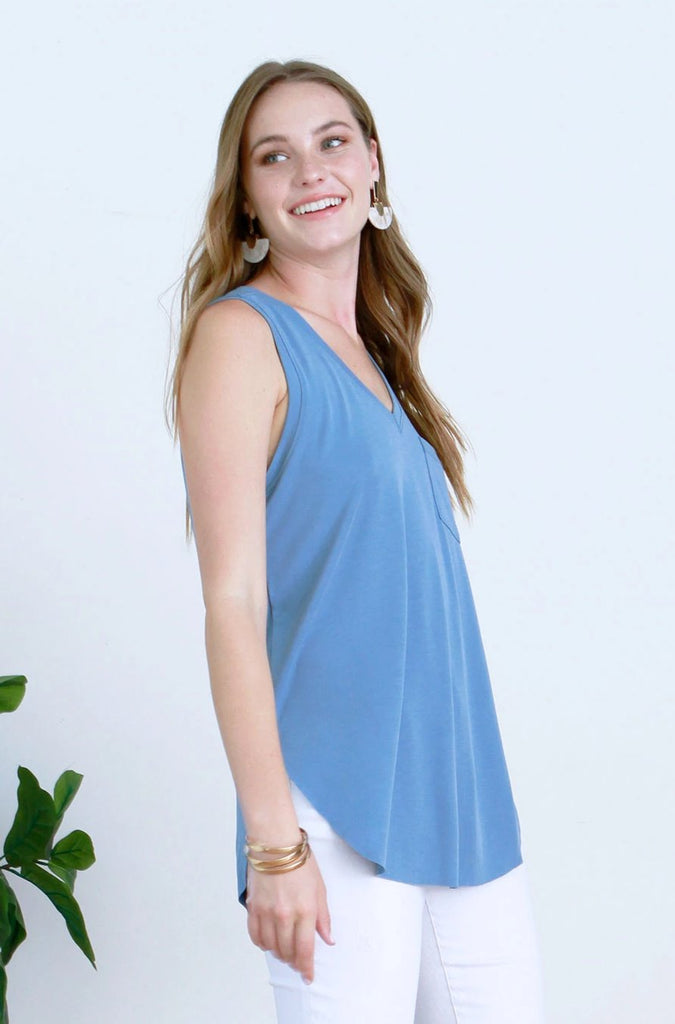 ESTHER TANK FRENCH BLUE
