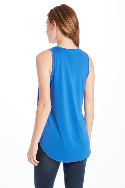 ESTHER VNECK TANK W/ PKT ROYAL